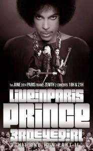 Prince en concert a Paris